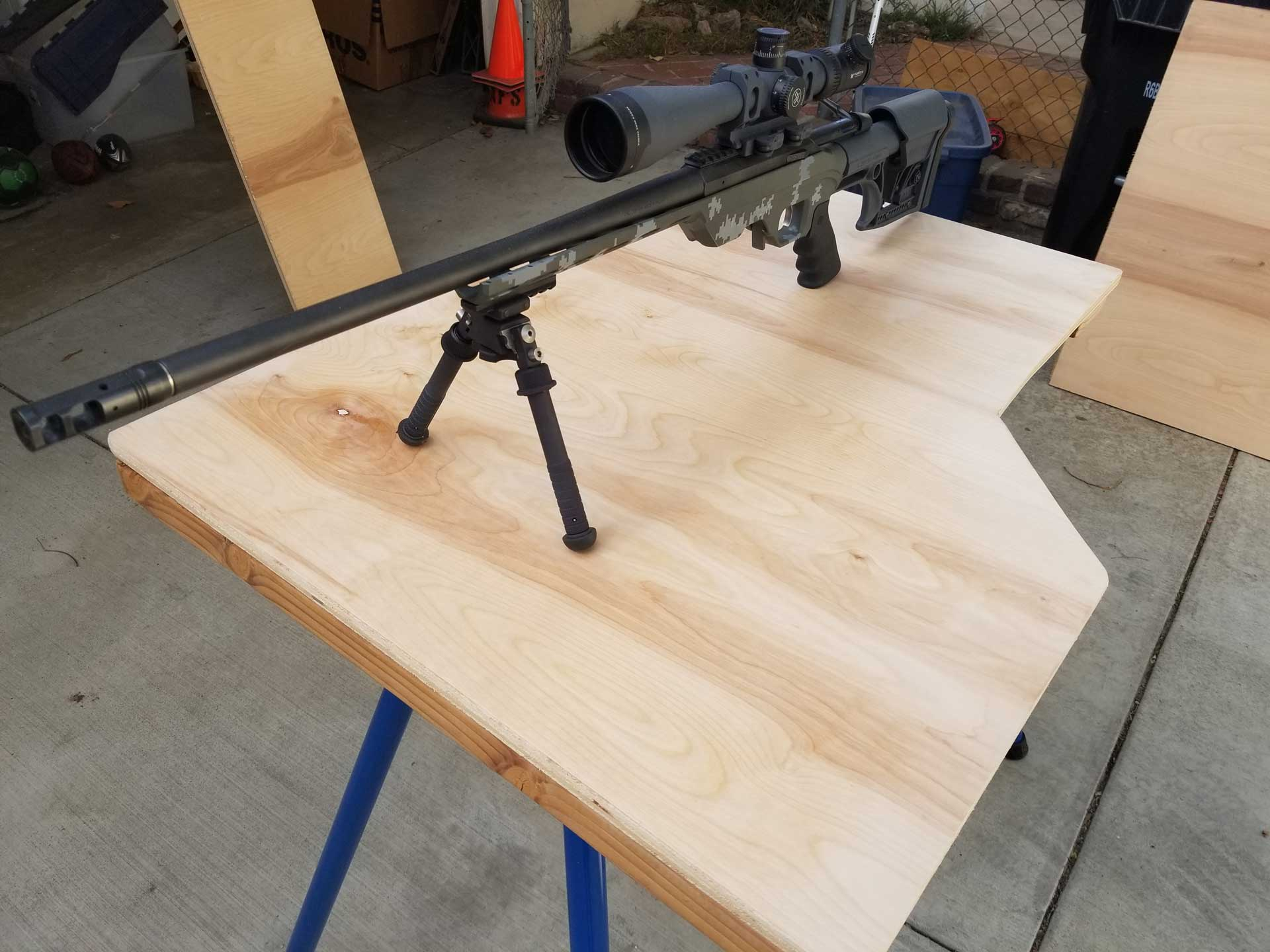 Diy Shooting Bench With Rugged Buddy Legs Findrange