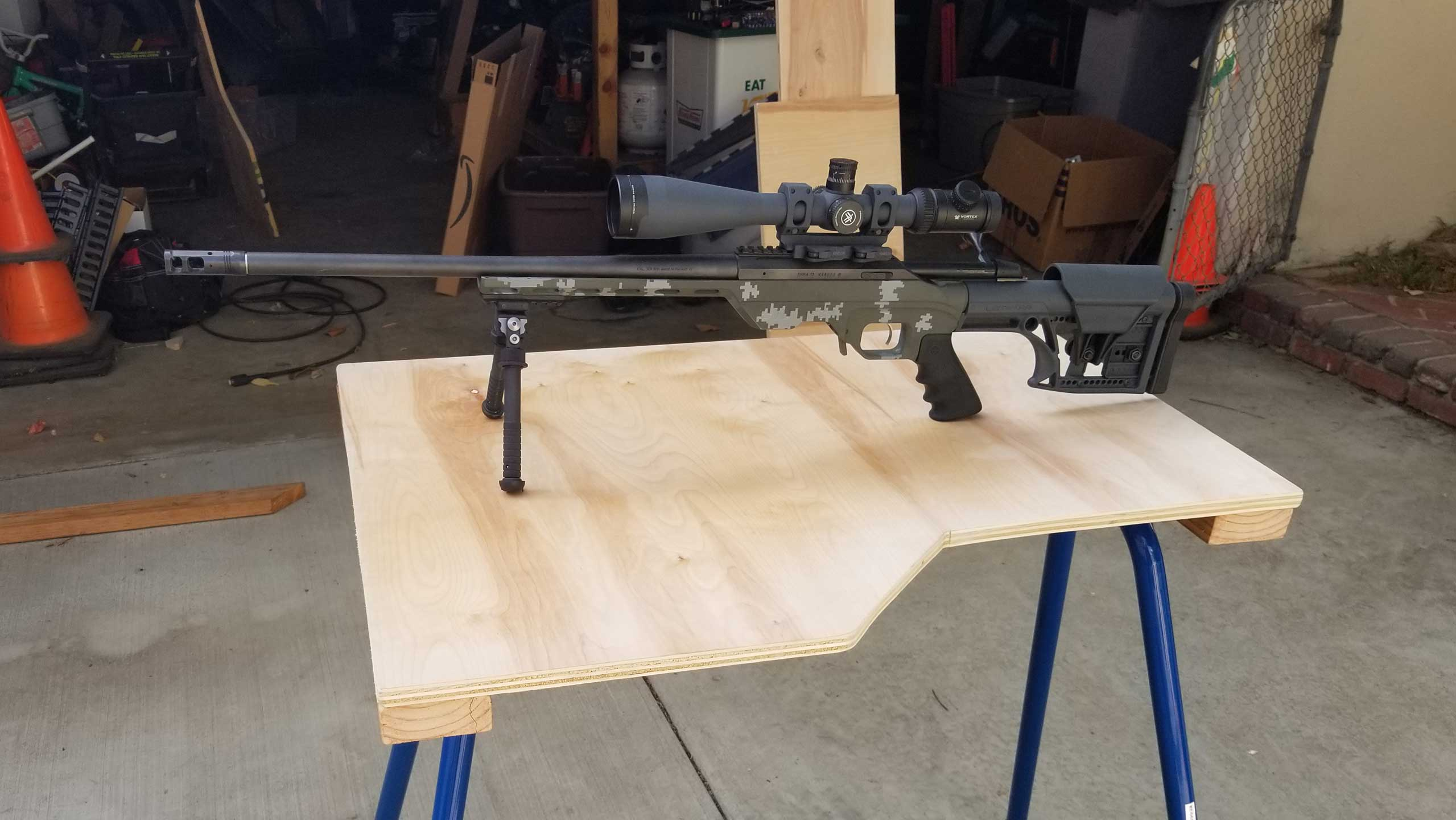 DIY Shooting Bench with Rugged Buddy legs – FindRange – Shoot
